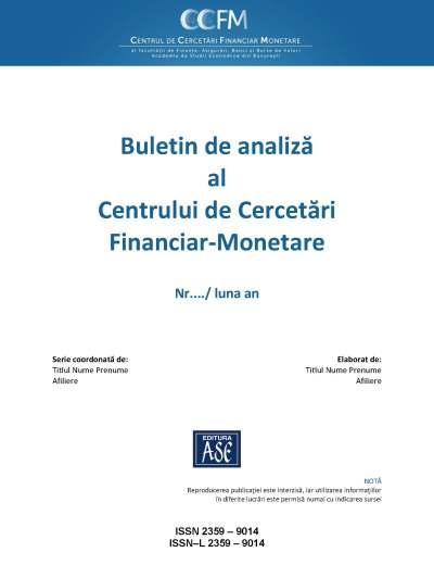 Analysis Bulletin of the Center for Financial and Monetary Research