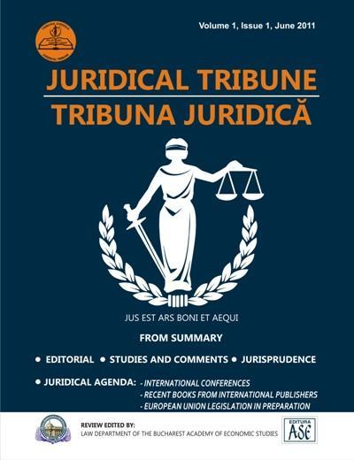 JURIDICAL TRIBUNE/TRIBUNA JURIDICA