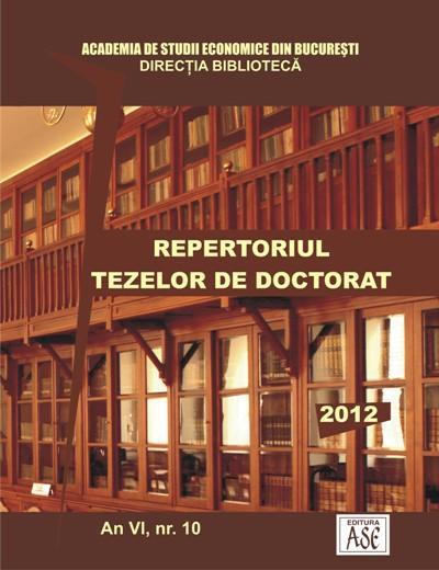 REPERTORIUL TEZELOR DE DOCTORAT